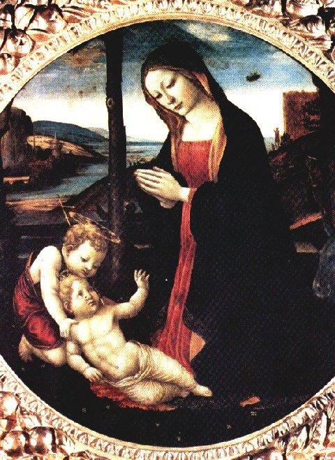 Painting of themadonnaand saint giovannino